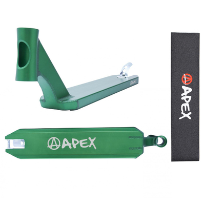 Apex Pro 580mm Deck - Green - Bonus Griptape