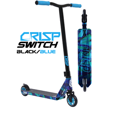 Crisp Switch Scooter - Black Blue - Bonus Stand