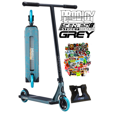 Envy Prodigy Series 8 S8 Street Edition  Scooter - Grey - Bonus Stand
