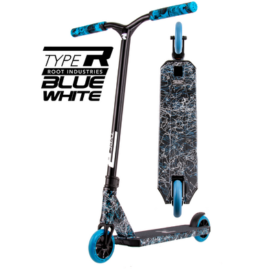 Root Industries Type R Scooter - Blue White - Bonus Stand