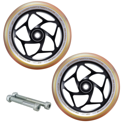 Envy Gap Core 120mm Gold/Black Wheels Free Axles