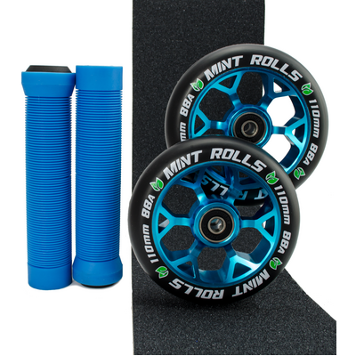 Mint Rolls 110mm Wheels Grips & Tape Pack Blue