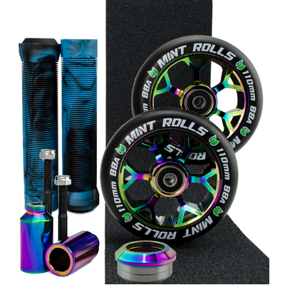 Mint Rolls 110mm Ultimate Wheel Pack Oil Slick/Black Aqua