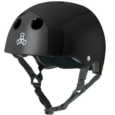 Triple 8 Dual Certified Helmet - Gloss Black