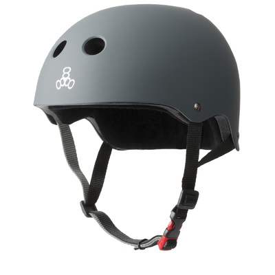Triple 8 THE Certified Sweatsaver Helmet - Carbon Rubber