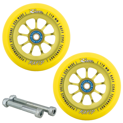 River Wheel Co Sunrise Rapids 110mm Wheels with Bearings and Axles